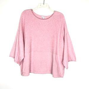 Pure Jill Kimono oversized cotton/cashmere sweater